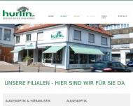 Website Hurlin Brillen-Optik und Kontaktlinsen