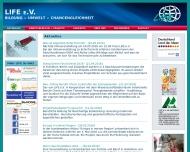 Website LIFE - Bildung, Umwelt, Chancengleichheit