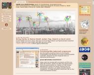 Bild Webseite GAMB Cross Media Design Frankfurt