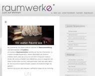 Bild Webseite Raumwerke Werkstatt für Dekoration Polstermöbel Quaschinski u. Nienhuys Frankfurt