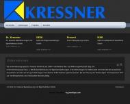Website Kressner Dr. Baubetreuungen-Eigenheimbau