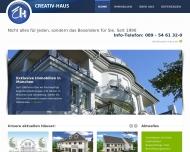 Bild Webseite Creativ-Haus Baubetreuung München
