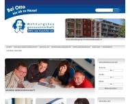 Website Wohnungsbaugenossenschaft Otto von Guericke eG.