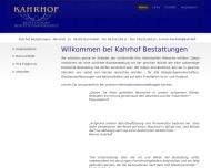 Bild Webseite Willkommen bei Kahrhof Bestattungen Darmstadt