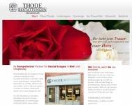 Website Thode Adolf Bestattungen