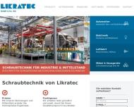 Bild Webseite Likratec Dachau