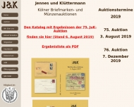 Bild Klüttermann Peter u. Jennes Wolfgang Briefmarkenauktion
