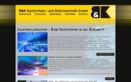 Bild Webseite B & K Nachrichten- und Elektrotechnik Freital