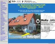 Website WeKo-Sport Badminton FachGesch.