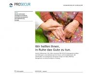 Website Pro Secur Vermögensberatung und Verwaltung