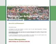 Bild Webseite Schneider Max Metzgerei Gleiritsch