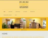 Website Tempel Ingo Facharzt für Gynäkologie und Geburtshilfe