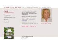 Bild Webseite Matthias Sabine Dr. Frauenärztin Köln