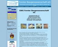 Bild Webseite Gemeinnützige Wohnungsbaugenossenschaft Forster Baugenossenschaft eG Forst (Lausitz)