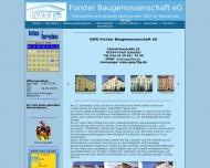 Website Gemeinnützige Wohnungsbaugenossenschaft Forster Baugenossenschaft eG