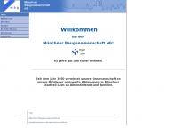 Website Münchner Baugenossenschaft eG