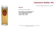 Bild Webseite Walter Getränke Köln