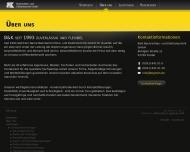 Website B & K Nachrichten- und Elektrotechnik