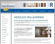 Bild Webseite Roos Rolf Fenster- und Haustürenbau Reichenbach an der Fils