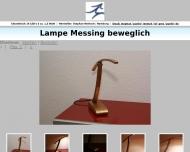Lampe Messing beweglich