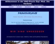 Bild Dipl.-Med. Ute Haubold Fachärztin für HNO-Krankheiten, Naturheilverfahren