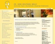 Bild Webseite Mahlo Hans-Wolfgang Dr. med. HNO-Arzt Konstanz