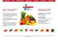 Bild Webseite Lührs Fruchtgroßhandel Hamburg