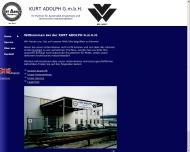 Bild Webseite Adolph Kurt Hamburg