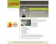 Bild Webseite Elektro Quaas A. Nürnberg