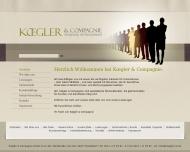 Bild Webseite Koegler Düsseldorf
