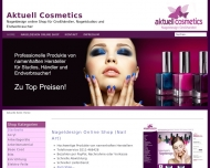 Bild Webseite AKTUELL Cosmetics Düsseldorf