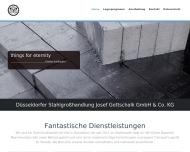 Bild Webseite Düsseldorfer Stahlgroßhandlung Josef Gottschalk Düsseldorf