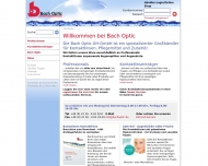 Bild Webseite Bach Optic Großhandels Köln