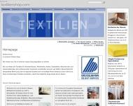 Bild Webseite Sarahtex Textil- Groß- und Einzelhandel Essen