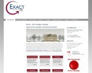 Bild Webseite EXACT Die Hausmeister Köln