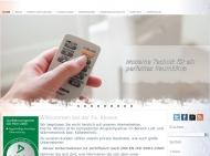 Website Ahrens Luft- und Wärmetechnik