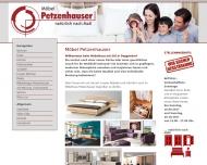 Bild Webseite Möbel Petzenhauser Oberpöring