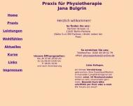 Bild Webseite Bulgrin Jana Praxis für Physiotherapie Berlin