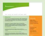 Bild Webseite Proximed Physio Berlin
