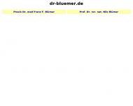 Bild Webseite Blümer Franz Dr. med. Psychohtherapeut Psychotherapeutische Praxis München
