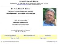Website Blümer Franz Dr. med. Psychohtherapeut Psychotherapeutische Praxis