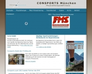 Website Consports Center Physiotherapie