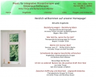 Bild Webseite Praxis für Integrative Primärtherapie und Körperpsychotherapie Anita Timpe u. Barbara Koch-Mäckler Berlin