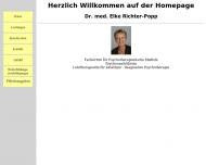 Website Richter-Popp Elke Dr. med. Psychotherapie