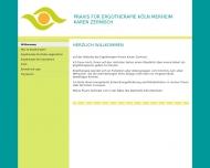 Bild Webseite Zernisch Karen Praxis für Ergotherapie Köln