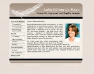 Bild Webseite Kühne de Haan Lelia Psychotherapie Hypnosetherapie München