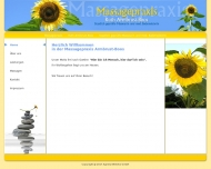 Bild Webseite Armbrust Massagepraxis Berlin