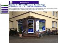 Bild Webseite Fege Katrin Praxis für Physiotherapie Berlin
