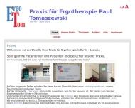 Bild Webseite Praxis für Ergotherapie Paul Tomaszewski Berlin