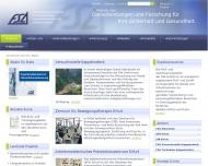 Bild Webseite Zentrum für Bewegungstherapie der FSA Erfurt